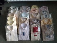 112 MENS QUALITY SHIRTS. SIZE 15. M & S. VAN HUESEN. SAMUEL WINDSOR AND MANY MORE. BNIB