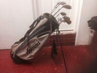 Golf clubs - Driver, 3 Wood, 5 Wood, full set of Irons (3 - Sand Wedge), Putter, Bag, Balls & tees.