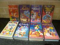 Disney Videos VHS tapes Job lot