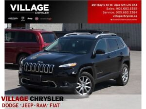 2017 Jeep Cherokee Limited|4x4|Nav|Memy&Vent Seat Grp|Panroof|Re