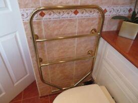 Dimplex gold towel rail