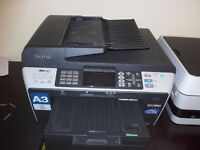 Brother MFC 6490CW A3 Wireless printer with full set spare inks
