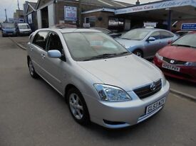 2003 53 toyota corolla 1.6 t spirit vvti 5 door, low miles. 30 + cars in stock.