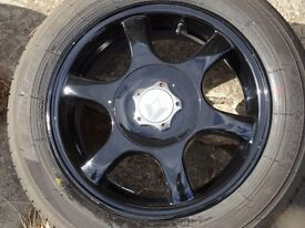 4 x 100 R14 Alloy wheels with new tyres Renault clio