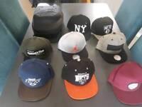 8 hats Snapbacks