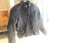 BIKER JACKET FULLY ARMOURED GREAT CONDITION SIZE M/L PLUS BIKER BOOTS SIZE 10/11
