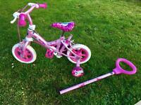 "MINT 10"" Girls Bike with Steering Handle"