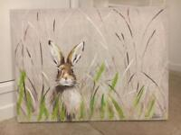"""Next """"hare in meadow"""" canvas"""