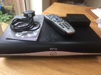 Sky + HD Box with New Remote and wifi connector box