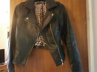 ladies leather look jacket brand new