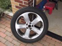 Vauxhall Mokka 18 inch alloy wheel & tyre (part worn 4mm)215/55 R18 H Continental Prem contact 2