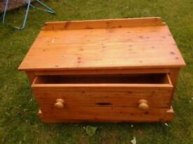 Solid pine blanket box/ toy box