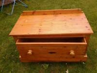 Solid pine blanket box/ toy box