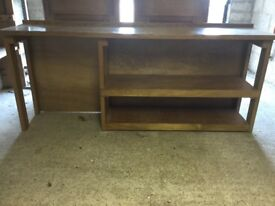 Custom solid wood desk