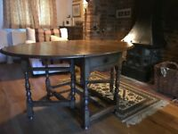 Antique gate leg dining table for sale