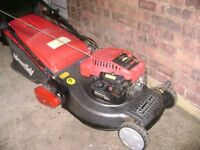 mountfield sp460 roller petrol lawnmower with self propelled roller drive