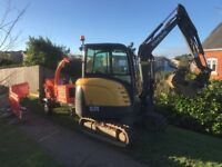 3 Ton and 6 ton excavator digger and driver for hire