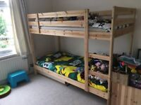 Ikea Mydal Bunk Bed with 2 Malfors foam mattresses