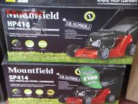 MOUNTFIELD HP414 PETROL LAWNMOWER 100CC ENGINE 40 LTR GRASSBAG