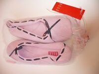 Elle boudoir slippers in pale pink colour. Size L ( UK 6.5 -7.5)