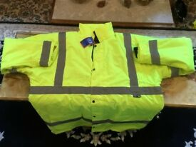 BRAND NEW WITH TAGS 4XL fluorescent high visibility jacket