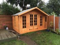 8x8 SUMMER HOUSE (HIGH QUALITY) £929.00 ANY SIZE (FREE DELIVERY AND INSTALLATION)