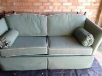 Georgian style drop arm sofa bed