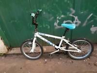 White kids bmx bike