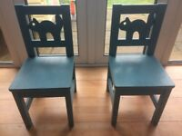 2 Upcycled Blue Ikea Children's Chairs: £25 each or £40 for pair. Suit children aged 1-7 years