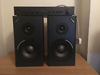 Alesis M1 Mk2 Passive and Rotel RA-820 Amplifier