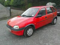 1996 Vauxhall Corsa 1.4 LS 5 door only 47000 mls( can be viewed inside anytime)