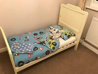 Tutti Bambini Alexia Dropside Cot Bed and Changing Chest. Mothercare Cotbed Mattress.