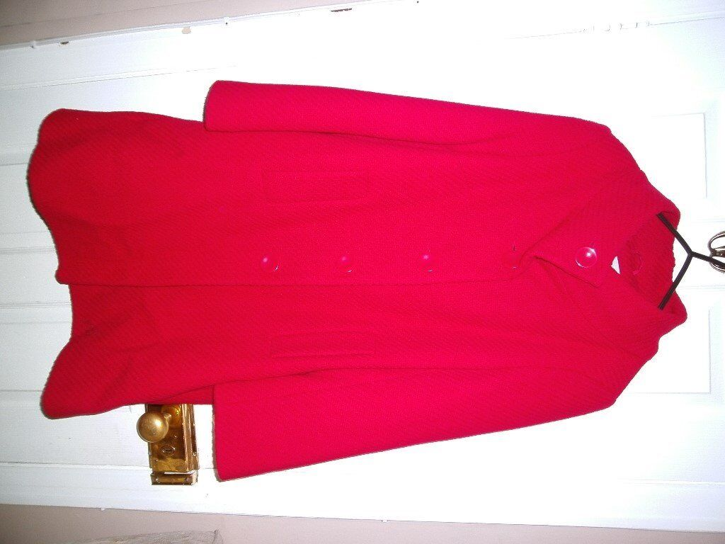 RED WOOL WALLIS COAT