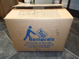 5 x medium 35x34x46 strong double removal/packing Cardboard Boxes (medium size also see separate ad)
