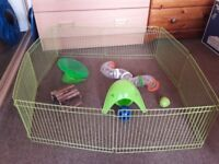Hamster cage, run and other accessories