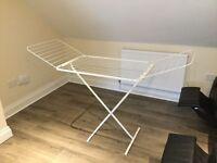 Folding Clothes drying laundry rail