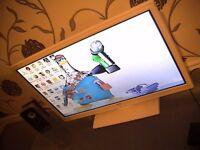 "tv bush 24"" 1080p white hdmi dvd player build in seen working"
