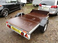 2014 GALVANISED 7-2 X 4-2 FLATBED GOODS TRAILER 750KG UNBRAKED....