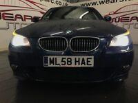 BMW 5 SERIES 3.0 525d M Sport 4dr Auto (blue) 2008