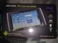 ARCHOS 70 250 GB WI FI ENABLED INTERNET TABLET EXCELLANT CONDITION £ 50