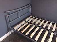 Metal Bed in Silver Finish 4FT Small Double