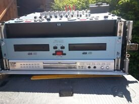 Flight case with mixer deck, twin deck cd player and karaoke player with thousands of songs.