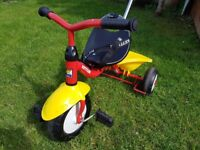 kids kettle super trike with parent pole and seat belt £20