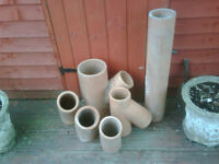 Clay pipe fittings x6 pieces