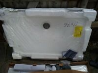PLUMBERS.....SHOWER TRAY (PLUS RISER KIT FREE) 1100mm × 760mm × 40mm BRAND NEW IN PACKAGING