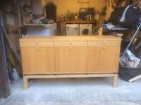Ikea Light Oak Sideboard / Cabinet