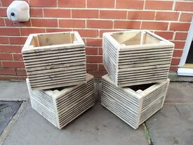 square garden planters £8 each