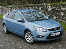 "FORD FOCUS 1.6 ZETEC HATCHBACK. LOW MILEAGE, FSH, GREAT CONDITION, MOT. 17"" ALLOYS, PRIVACY GLASS."