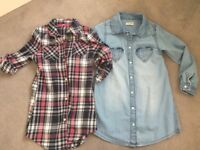 Next and atmosphere girls shirt dresses size 4-5 Years NEW