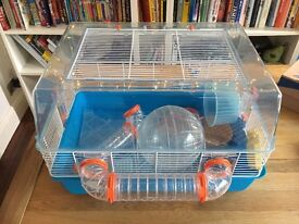 Hamster Cage and Accessories FOR SALE - 2 months old, with additional items.